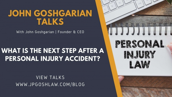 JP Gosh Law Talks for Sunrise, FL -  What is The Next Step After a Personal Injury Accident?