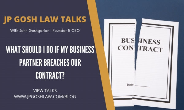 Biscayne Park, Florida Citizens: What should I do if my business partner breaches our contract?